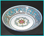 Click here to enlarge image and see more about item ES05: Wedgwood Florentine Turquoise sauce dish