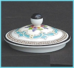 Click here to enlarge image and see more about item ES06: Wedgwood Florentine Turquoise sugar lid