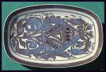 Click here to enlarge image and see more about item G004: Royal Copenhagen faience tray (Arts & Crafts)