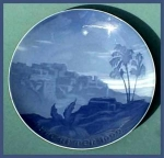 Click here to enlarge image and see more about item G007: Bing and Grondahl: Christmas plate (1922)
