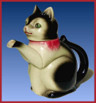 Click here to enlarge image and see more about item H017: Erphila figural cat teapot