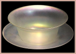 "Click here to enlarge image and see more about item H067: Steuben ""Verre de Soie"" bowl"