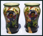Click to view larger image of Gouda: Pair of large Ivora vases (Image1)