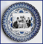 Click here to enlarge image and see more about item H118: Royal Doulton Gibson girl plate