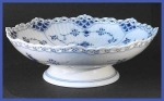 Click to view larger image of R Copenhagen Blue Fluted Full Lace compote (Image1)