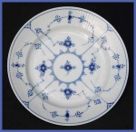 "Click to view larger image of Royal Copenhagen Blue Fluted plate (8 7/8"") (Image1)"