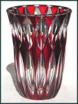 Click here to enlarge image and see more about item J007: Cristalleries de St. Louis  art glass vase