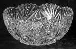Click here to enlarge image and see more about item J035: ABP Cut glass bowl