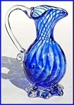 Kraft 1968: Blue striped footed pitcher