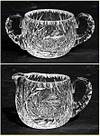 Click to view larger image of Kraft 1950: RARE Cut glass sugar and creamer set (Signed) (Image1)