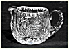Click to view larger image of Kraft 1950: RARE Cut glass sugar and creamer set (Signed) (Image3)
