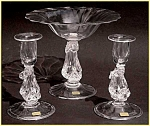 Click to view larger image of Kraft:  Dolphin compote&matching candlesticks (Image1)