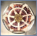 Kraft 1975: Faceted milllefiori paperweight