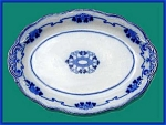 Click to view larger image of Flow Blue: LORNE large platter (Image1)