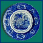 Click to view larger image of Flow Blue: ORIENTAL meat platter (Image1)