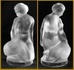 Click here to enlarge image and see more about item J121: Lalique nude with swan