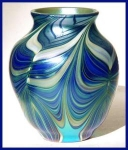 Click to view larger image of Early Orient and Flume art glass vase (Image1)
