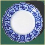 Click to view larger image of Flow Blue: MELBOURNE dinner plate (Image1)