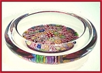 Click here to enlarge image and see more about item KR011: Perthshire Paperweights millefiori bowl