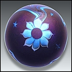 Click to view larger image of Lundberg 1977: Flower and waves paperweight (Image1)