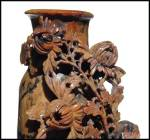Click to view larger image of Antique carved soapstone vase (Image2)