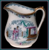 Click to view larger image of Early Staffordshire polychrome large pitcher (Image2)