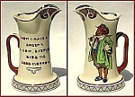 Click here to enlarge image and see more about item L124: Royal Doulton seriesware motto pitcher