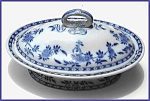 Click to view larger image of Flow Blue: DELFT covered server  (Mintons) (Image1)
