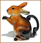 Click here to enlarge image and see more about item L178: Erphila rabbit figural teapot
