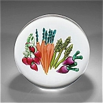 Ken Rosenfeld  2001: Vegetable garden paperweight