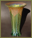"Click here to enlarge image and see more about item M027: Lundberg Studios ""Moire Fern"" vase"
