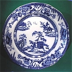 Click here to enlarge image and see more about item M050: Flow Blue: HONG KONG plate