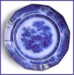 Click to view larger image of Flow Blue: TONQUIN plate (Image1)