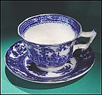 Click to view larger image of Flow Blue: KYBER demitasse cup and saucer set (Image1)