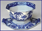Click to view larger image of Flow Blue: KYBER octagonal bowl and undertray (Image1)