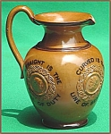 Click here to enlarge image and see more about item M126: Doulton motto jug