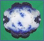 Click to view larger image of Flow Blue: LA BELLE serving bowl (Image1)