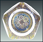 Click to view larger image of Whitefriars 1974: Patterned  millefiori paperweight (Image1)