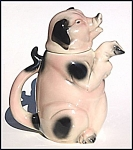 Click here to enlarge image and see more about item N01: Erphila figural pig teapot