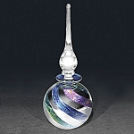 Sean O'Donoghue: Dichroic and Silver round perfume bottle