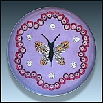 William Manson 2001: Butterfly and millefiori paperweight