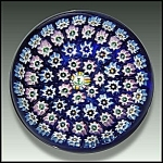 Click here to enlarge image and see more about item P092: John Deacons: concentric milefiori paperweight