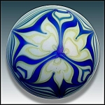 Click here to enlarge image and see more about item P156: Steve Smyers 1976: Art nouveau design paperweight