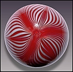 Click here to enlarge image and see more about item P158: Smyers Glass 1977: Art noveau design paperweight