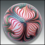 Click here to enlarge image and see more about item P159: Smyers Glass 1977: Art nouveau design paperweight