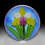 Mayauel Ward 2008:  Yellow orchid paperweight.