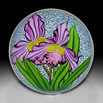 Mayauel Ward 2008: Large violet orchids paperweight