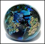 """Click to view larger image of Josh Simpson 1990: """"Inhabited planet"""" paperweight (Image2)"""