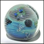"""Click to view larger image of Josh Simpson 1988: """"Inhabited planet"""" paperweight (Image3)"""
