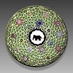 Click here to enlarge image and see more about item S010: Baccarat 1973: Gridel elephant paperweight